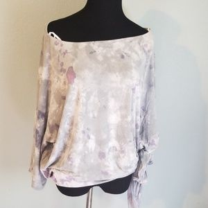 Ladies We The Free paint blotch print blouse, S